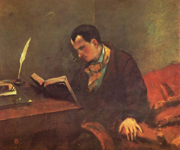 Charles Baudelaire par Gustave Courbet